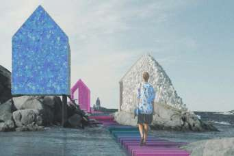 """""""Остров пластика"""" демонстрирует возможности использования океанского мусора в архитектуре"""