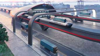 В США представлен проект грузового гиперзвукового поезда. Видео