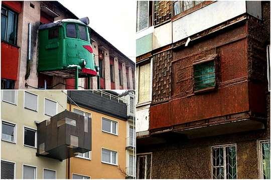 Строительные курьезы: самые невероятные балконы мира. Фото