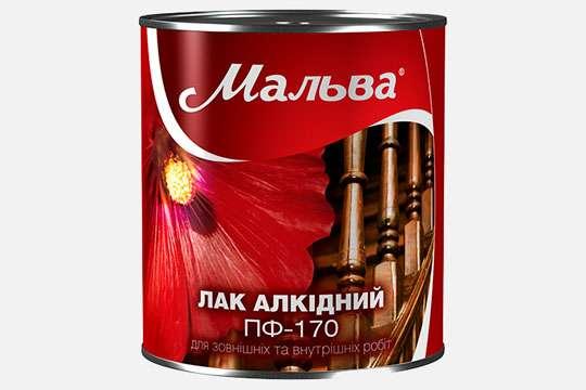 На строительном рынке Украины представлен алкидный лак ПФ-170 Мальва