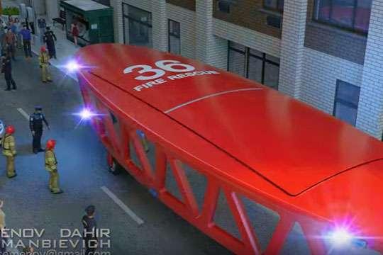 Спроектирована пожарная машина ближайшего будущего. Видео