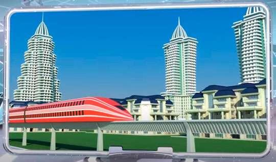 Спроектирован транспорт ближайшего будущего: скоростной монорельс. Видео