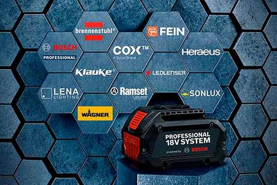Инструменты Fein смогут работать от батарей Bosch Professional 18V