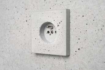 Розетки и выключатели теперь будут бетонными