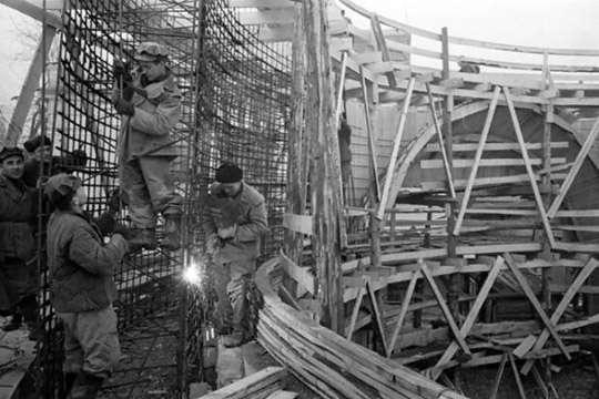 Как строили Киевское метро в 1959-1960 годах. Видео