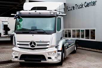 Mercedes-Benz начал серийное производство электрических грузовиков eActros