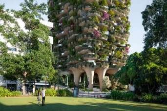 Построен самый высокий вертикальный сад в мире