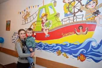 Різнобарвна атмосфера у дитячих лікарнях України