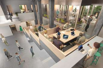 Архитекторы спроектировали постэпидемический офис