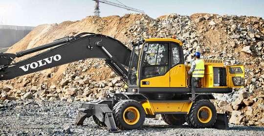 Дороги Хмельницкой области будут строить новые экскаваторы Volvo