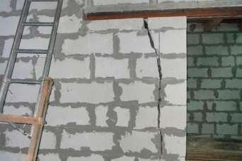 Как бороться с трещинами в стене из газобетона