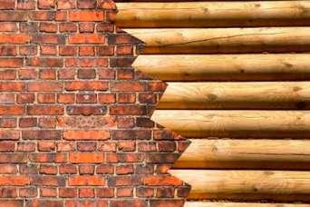 Как обложить деревянный дом кирпичом. Окончание