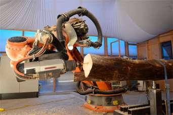 В Германии создали робота для строительства деревянных зданий