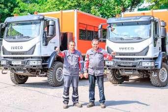 Украинские горняки получили новые спецавтомобили на базе IVECO