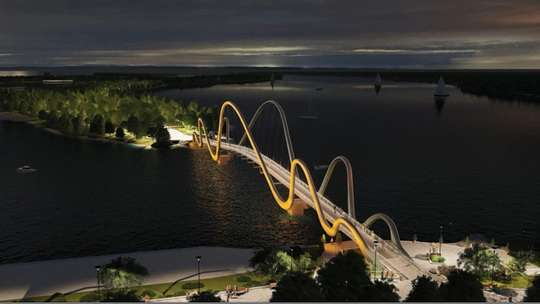 Как будет выглядеть новый пешеходный мост на Оболони. Фото