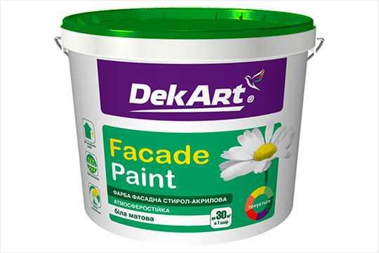 На рынке ЛКМ представлена фасадная краска Faсade Paint