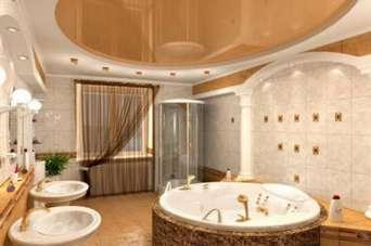 Как оформить потолок в ванной комнате. Фото и видео