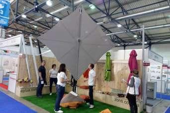 На выставке WorldBuildKyiv-2018 были представлены бельгийские зонты и отечественные паруса