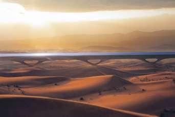 Для Hyperloop разработали пилонную инфраструктуру