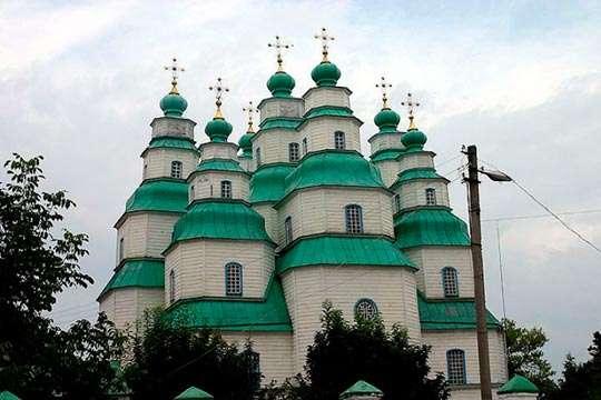 Украинский Свято-Троицкий собор в Новомосковске. Видео