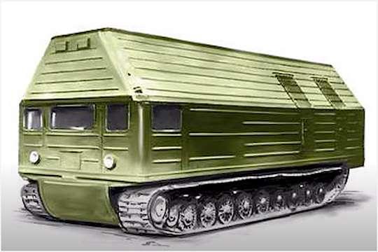 Самый необычный транспорт: атомный вездеход 60-х годов. Видео