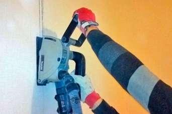 Как штробить стены под проводку. Окончание