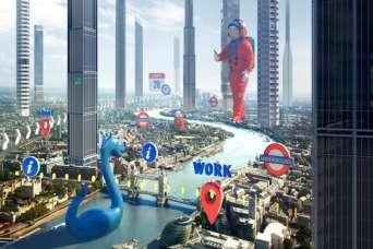 Создана дополненная реальность размером с город