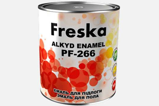На рынке ЛКМ представлена линейка покрытий ТМ Freska: эмаль для окраски полов ПФ-266