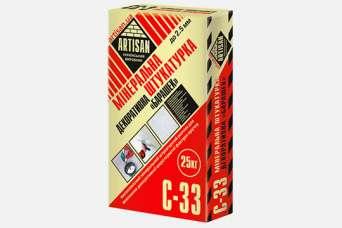 На строительном рынке представлена минеральная штукатурка ТМ Artisan